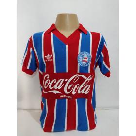 Camisa Retrô do Bahiia 1988 Coca cola Gola Polo Vermelha - Confecção em até 18 dias úteis.