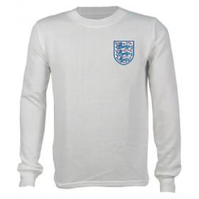 Camisa Retrô da Seleção da Inglaterra 1986 branca manga longa - Confecção em até 18 dias úteis.