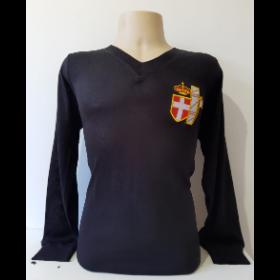 Camisa Retrô da Seleção da Itália 1938 preta Manga Longa - Confecção em até 18 dias úteis.