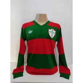 Camisa retrô da Portuguesa 1977 Manga Longa - Confecção em até 18 dias úteis.