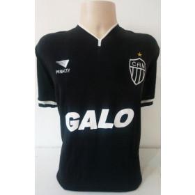 Camisa Retrô do Atlético Preta GALO - Confecção em até 18 dias úteis.