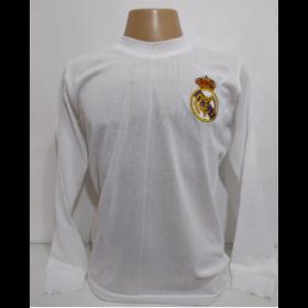 Camisa Retrô do Real Madrid Branca - Confecção em até 18 dias úteis.