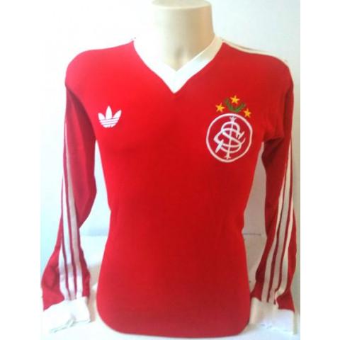 Camisa Retrô do Internacional 1981 Vermelha Manga longa - Confecção em até 18 dias úteis.