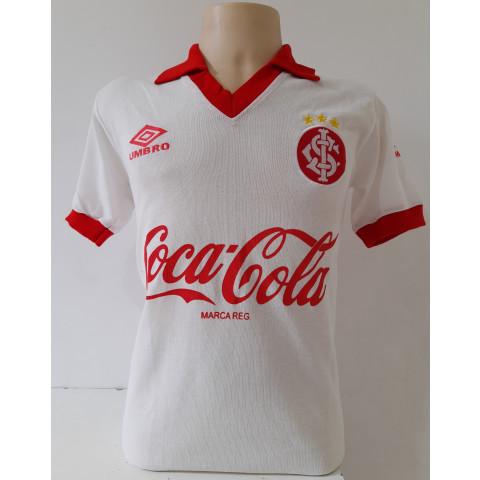 Camisa Retrô do Internacional 1989 Branca - Confecção em até 18 dias úteis.