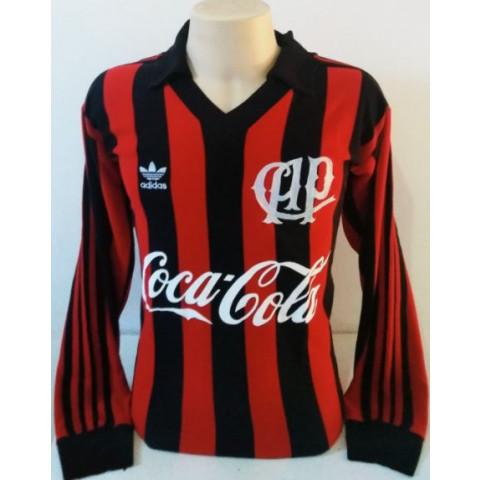 Camisa Retrô do Athletico Paranaense 1989 Manga longa - Confecção em até 18 dias úteis.