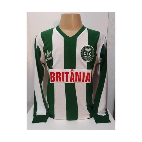 Camisa Retrô do Coritiba 1985 manga Longa - Confecção em até 18 dias úteis.