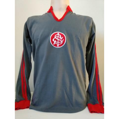 Camisa Retrô Internacional Goleiro Cinza - Confecção em até 18 dias.