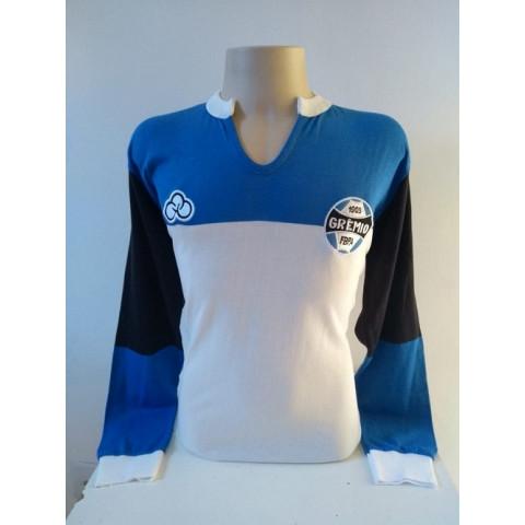 Camisa Retrô do Grêmio 1982 Manga Longa- Confecção em até 18 dias úteis.