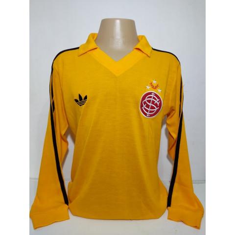 Camisa Retrô do Internacional do Goleiro Amarelo - Confecção em até 18 dias úteis.