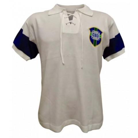 Camisa Retrô da Seleção Brasileira de 1914 - Confecção em até 18 dias úteis.