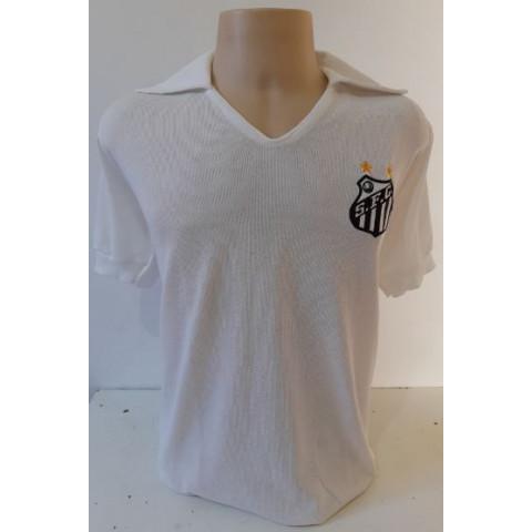 Camisa retrô do Santos 1970 Pelé - Confecção em Até 18 dias