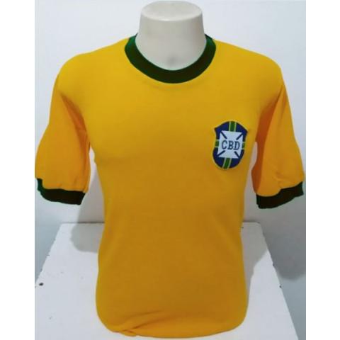 Camisa Retrô da Seleção Brasileira 1970 - Confecção em até 18 dias úteis.