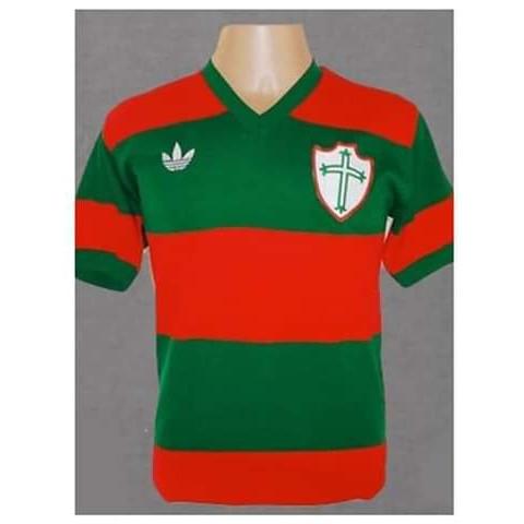 Camisa retrô da Portuguesa 1977 - Confecção em até 18 dias