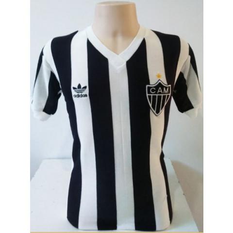 Camisa retrô do Atlético Mineiro 1985 listrada - Confecção em até 18 dias