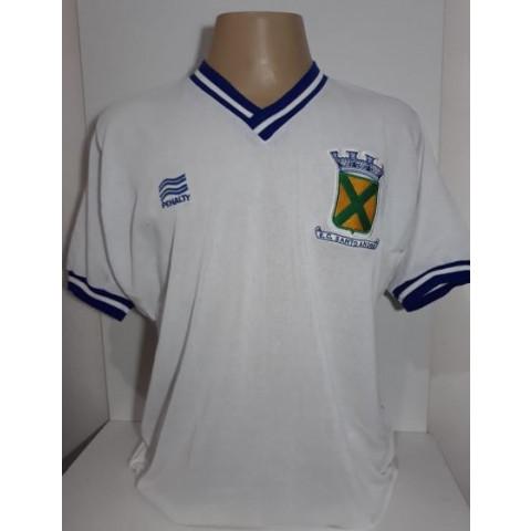 Camisa retrô do Santo André 1981 Branca - Confecção em até 18 dias