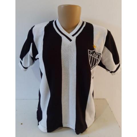 Camisa retrô do Atlético Mineiro 1982 Feminina (Baby Look) - Confecção em até 18 dias