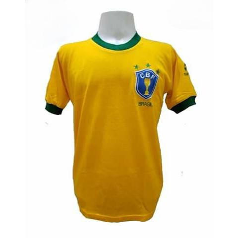 Camisa Retrô da Seleção Brasileira 1982 - Confecção em até 18 dias úteis.