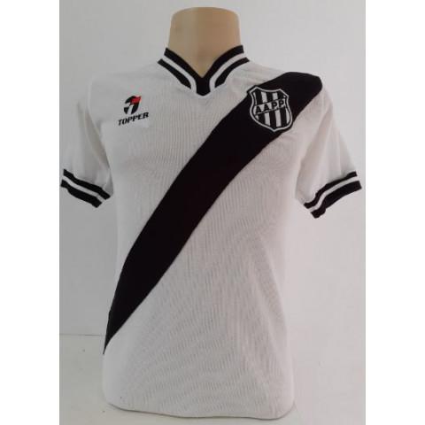 Camisa retrô da Ponte Preta 1977 Branca - Confecção em até 18 dias