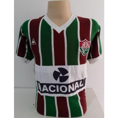 Camisa Retrô do Fluminense 1984 banco nacional (BRIM BRANCO) - Confecção em até 18 dias úteis.