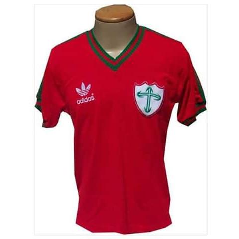 Camisa retrô da Portuguesa 1984 vermelha - Confecção em até 18 dias