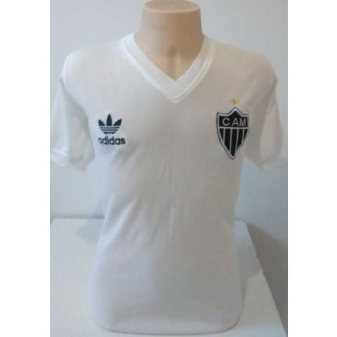 Camisa retrô do Atlético Mineiro 1985 branca - Confecção em até 18 dias
