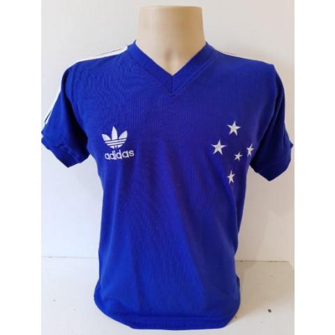 Camisa retrô do Cruzeiro 1987 Azul - confecção em até 18 dias