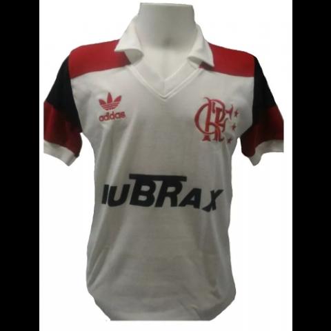 Flamengo 1988 branca Lubrax - Confecção em até 18 dias úteis.