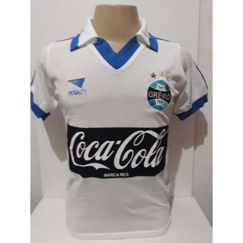 Camisa retrô do Grêmio 1988 Branca - Confecção em até 18 dias uteis