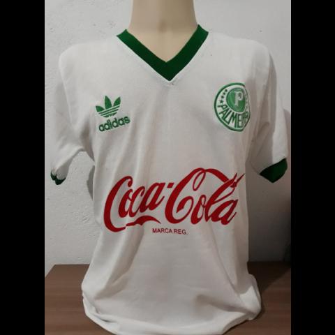 Camisa retrô do Palmeiras 1989-1990 branca - Confecção em até 18 dias