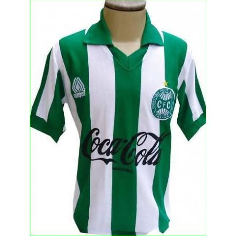 Camisa Retrô do Coritiba 1989 Listrada - Confecção em até 18 dias úteis.