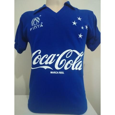 Camisa retrô do Cruzeiro 1993 Azul - Confecção em até 18 dias