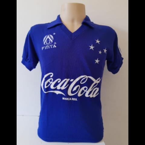Camisa Retrô do Cruzeiro 1993 azul - Confecção em até 18 dias úteis.