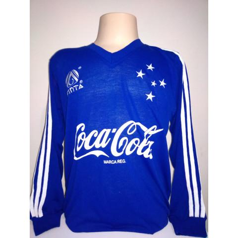 Camisa retrô do Cruzeiro 1993 Azul manga longa
