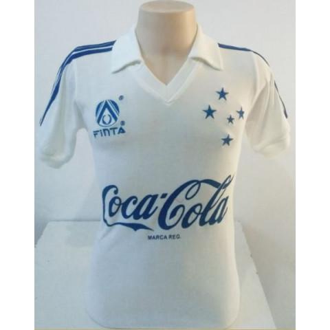 Camisa retrô do Cruzeiro 1993 Branca - Confecção em até 18 dias uteis