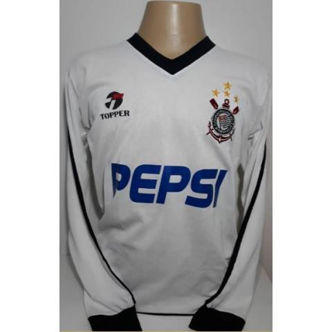 Camisa Retrô do Corinthians Pepsi manga longa - Confecção em até 18 dias úteis.