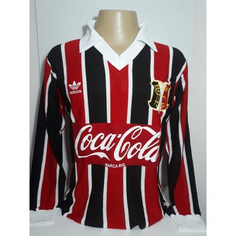 Camisa Retrô do Santa Cruz 1987 Listrada Manga Longa - Confecção em até 18 dias úteis.