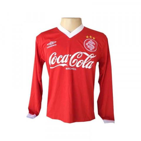 Camisa Retrô Internacional 1989 Manga Longa Vermelho - Confecção em até 18 dias.