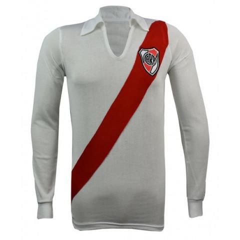 Camisa Retrô do River Plate Manga longa - Confecção em até 18 dias úteis.