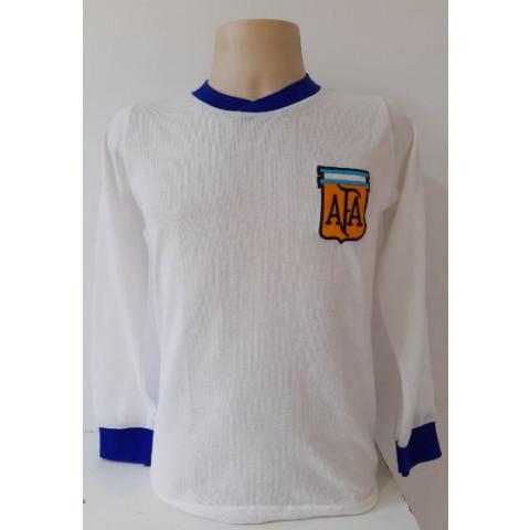 Camisa Retrô da Argentina anos 80 manga longa - Confecção em até 18 dias úteis.
