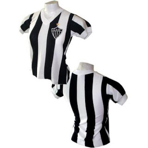 Camisa retrô do Atlético mineiro 1980 Feminina (Baby Look) - confecção em até 18 dias