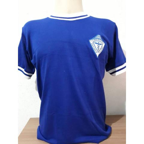 Camisa Retrô do Criciúma (Comerciario) Azul - Confecção em até 18 dias úteis.