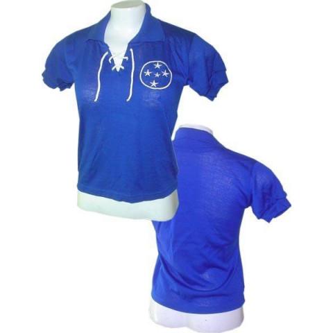 Camisa retrô do Cruzeiro 1942 feminina (Baby Look) - Confecção em até 18 dias