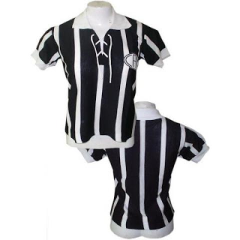Camisa retrô do Atlético mineiro 1920 Feminina (Baby Look)