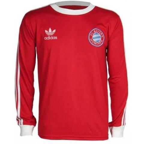 Camisa Retrô do Bayern Munich Manga longa - Confecção em até 18 dias úteis.