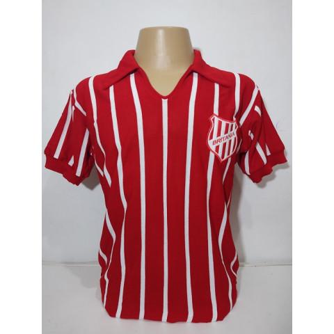 Camisa Retrô do Britania Listras Finas - Confecção em até 18 dias úteis.