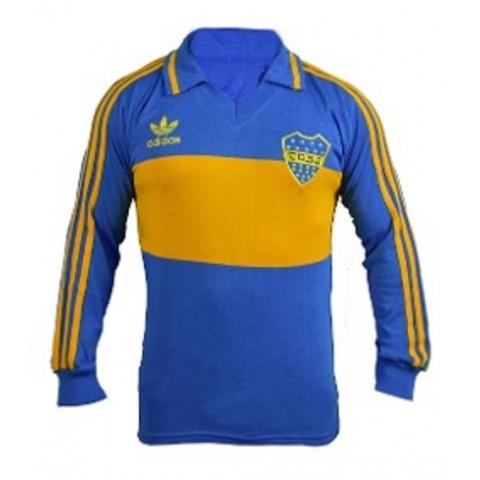 Camisa Retrô do Boca Juniors 1987 Manga longa  - Confecção em até 18 dias úteis.