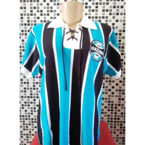 Camisa Retrô do Grêmio de cordinha Baby Look (feminina)   - Confecção em até 18 dias