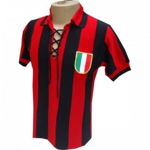 Camisa retrô do Milan 1950 - Confecção em até 18 dias úteis