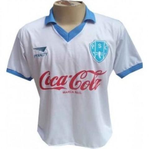 Camisa retrô do Paysandu Coca Cola Branca - Confecção em até 18 dias uteis