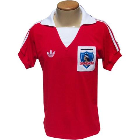 Camisa retrô do Colo Colo Chile - Confecção em até 18 dias